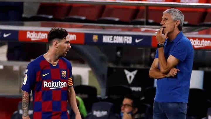 Former Barcelona coach Quique Setien makes a controversial comment on Lionel Messi