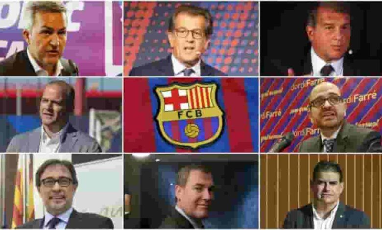 Barcelona presidential candidates split on the major voting issue